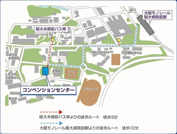 大阪大学吹田キャンパス建物配置マップ